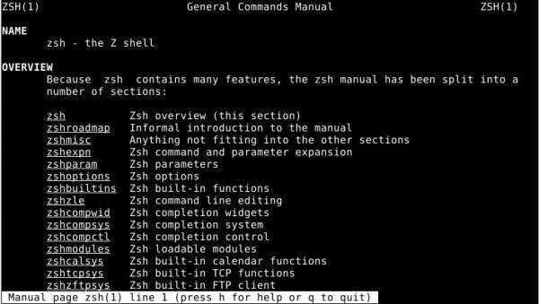 zsh linux shell devops